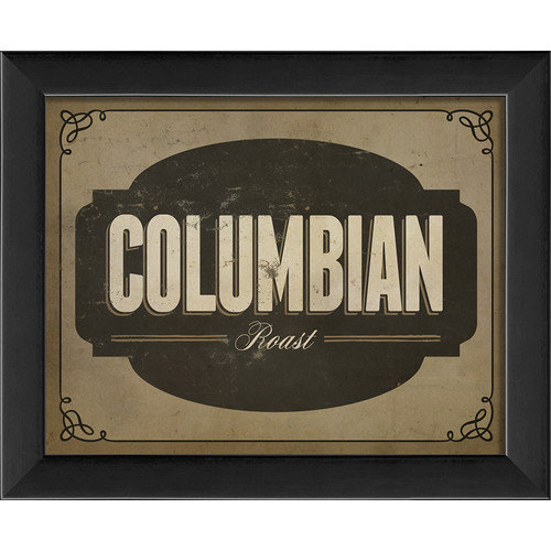 The Artwork Factory Columbian Roast Framed Textual Art