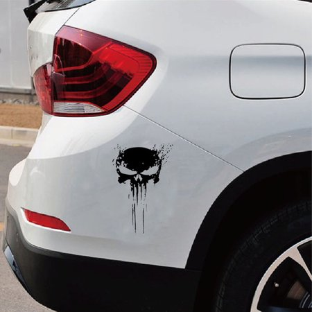 Punisher Skull Blood Vinyl Car Decals Stickers Motorcycles Decoration