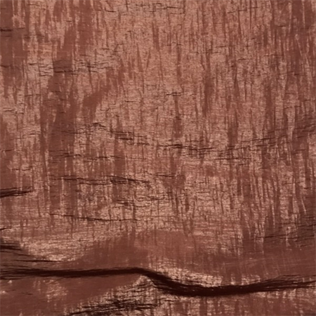 Toffee Brown Crinkled Shimmer, Fabric By the Yard