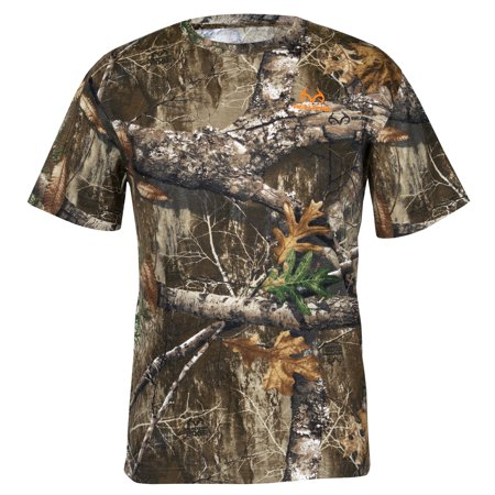 Realtree Mens S/S Scent Control Tee Realtree Edge Size Large Scent Shield Clothes
