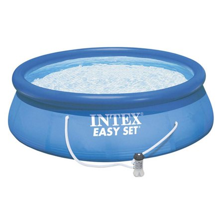 16x32 Rect Pool - Intex 15' x 33'' Easy Set Above Ground Swimming Pool with Filter Pump