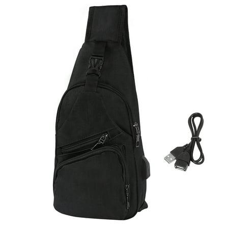 HDE Mens Sling One Arm Bag Anti-Theft Backpack Crossbody Commute Travel Work (Best Work Backpack Mens)