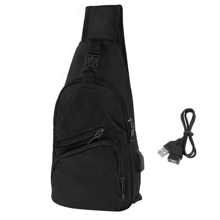 HDE Mens Sling One Arm Bag Anti-Theft Backpack Crossbody Commute Travel Work