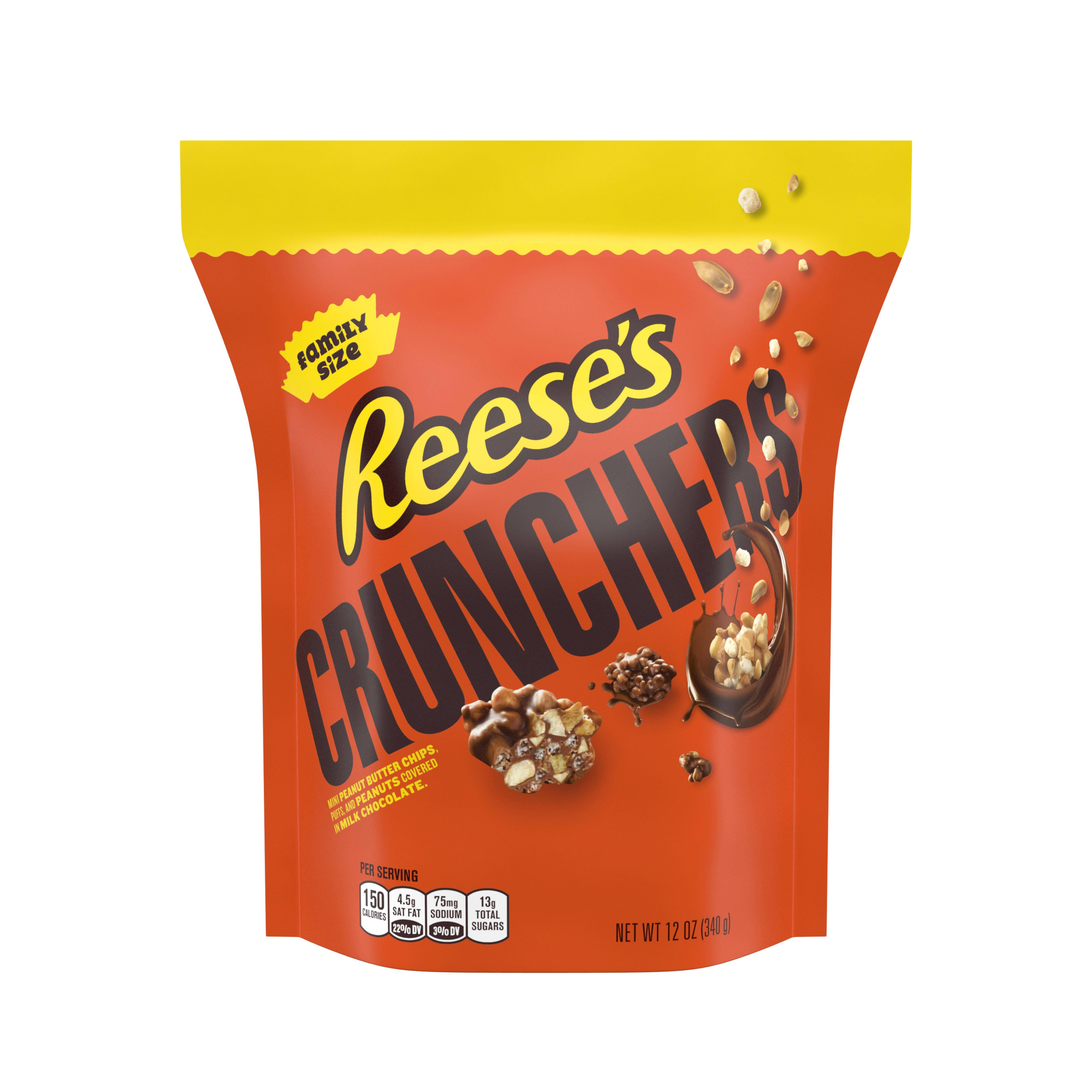 Reese's Crunchers Peanut Butter Chocolate Candy Snacks, 12 Oz.