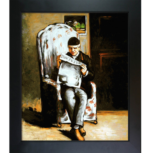 Tori Home Artists Father Reading by Paul Cezanne Framed Original Painting