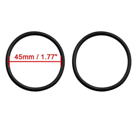 50pcs Black Universal Nitrile Rubber O-Ring Seals Gasket for Car 45 x 3.55mm - image 1 de 2