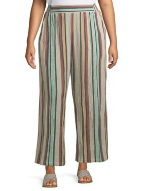 Romantic Gypsy Women's Plus Size Soft Pant with Elastic Waist