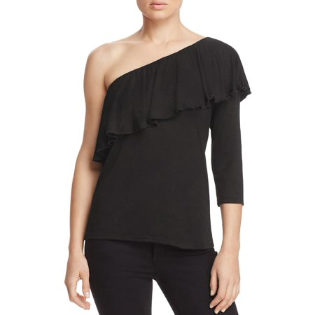 One Shoulder Ruched Top (Alison Andrews Womens Ruched One Shoulder Casual Top )