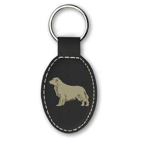 Keychain - Golden Retriever Dog (Black)
