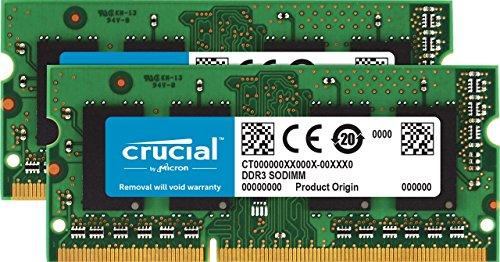 8GBx2 SODIMM 204-Pin Memory For Mac PC3-10600 DDR3//DDR3L 1333 MT//s Crucial 16GB Kit CT2K8G3S1339M