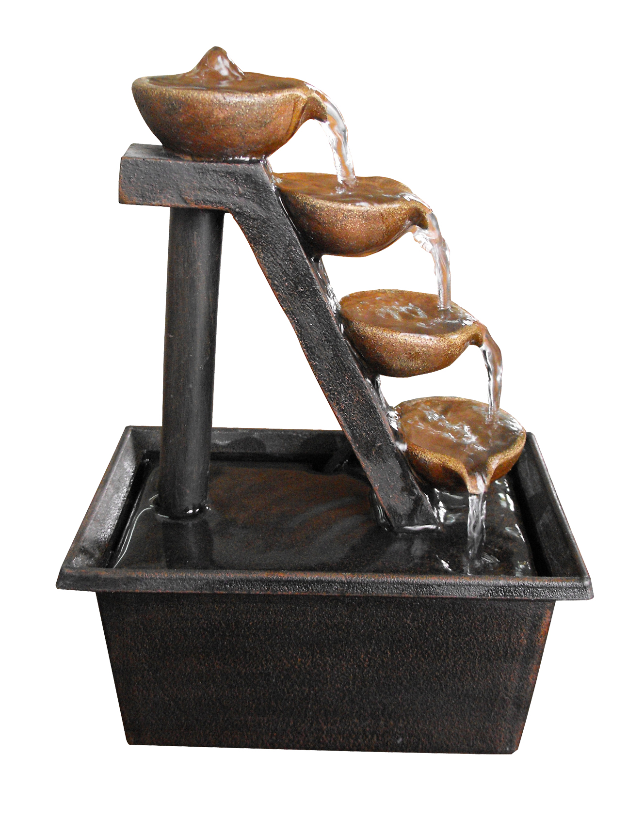 Four Tiered Step Tabletop Fountain by Benzara
