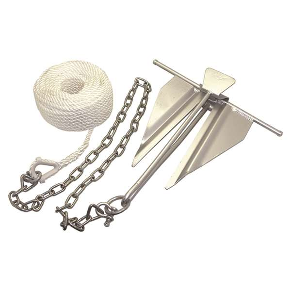 Click here to buy Boater Sports Boat Anchor Kit #7 5 lbs Rope and Chain by Donovan Marine.