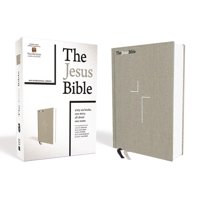 The Jesus Bible, NIV Edition, Cloth Over Board, Gray Linen, Comfort Print (Hardcover)