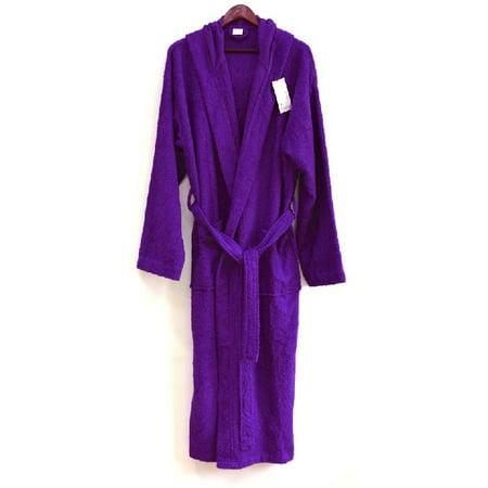 Spa   Resort - Womens 3Lb Hooded Terry Bathrobe 100% Cotton. Full Length 51  Inches. Made in Turkey - Walmart.com cb42f60b1