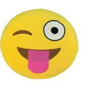 emoji large pillow silly wink