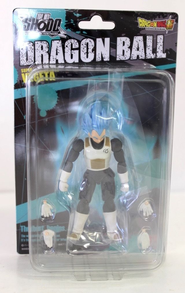 Bandai Shokugan Shodo Dragon Ball Z Super Saiyan God SS Vegeta Action Figure by Bandai