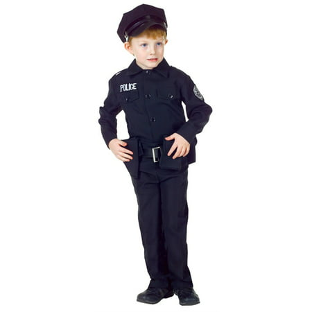 Police Man Set Child Halloween Costume - Walmart Police Costume