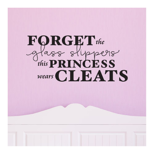 Belvedere Designs LLC Quotes  This Princess Wears Cleats Wall Decal