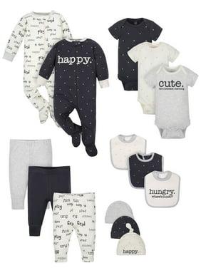 Wonder Nation Baby Boy or Girl Gender Neutral Shower Layette Gift Set, 14-piece