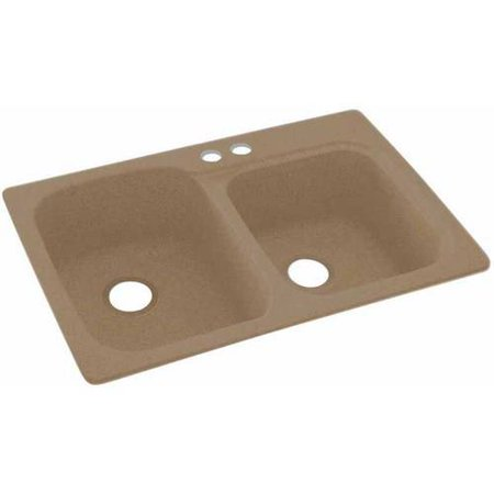 Swan Solid Surface Kitchen Sink 33 X 22 With 2 Faucet