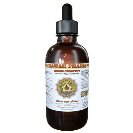 Horse Chestnut (Aesculus Hippocastanum) Tincture, Organic Dried Nuts Liquid Extract, Qi Ye Shu, Herbal Supplement 2 oz