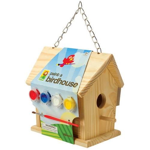 """Toysmith 02951 7 1/2"""" Paint A Birdhouse"""