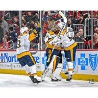 Pekka Rinne Nashville Predators Unsigned First NHL Goal Celebration Photograph