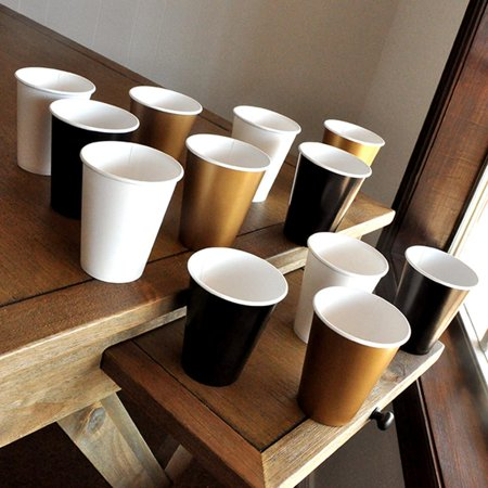 50th Birthday Novelties (Black and Gold Party Supplies Paper Party Cups. Ships in 1-3 Business Days. 50th Birthday)