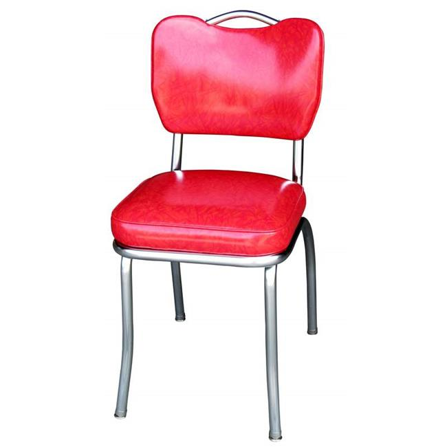 Richardson Seating Corp 4261CIR 4261 Handle Back Diner Chair  Cracked Ice  Red  With 2