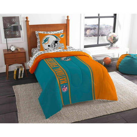 NFL Miami Dolphins Soft and Cozy Bedding Comforter Set by