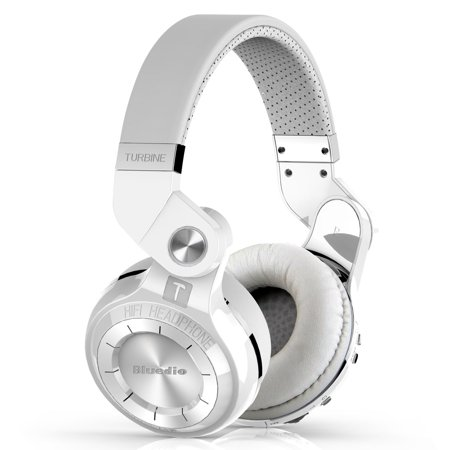 Bluedio T2s Bluetooth Headphones Wireless Headsets Foldable Microphone  White