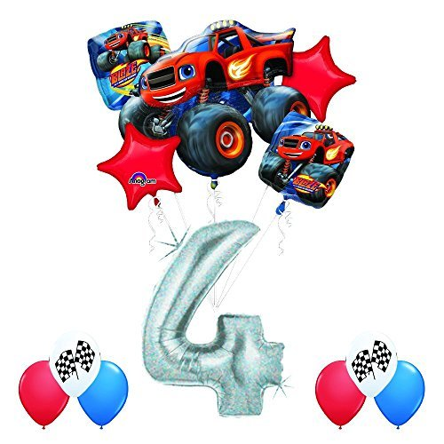 Anagram Blaze and The Monster Machines 4th Birthday Balloon Decoration Kit