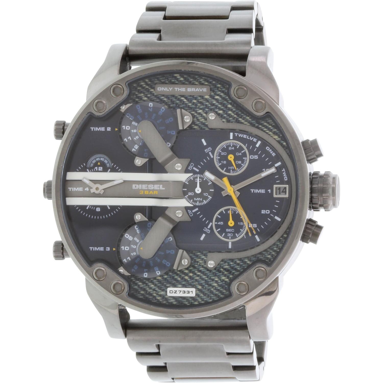 Diesel Men's Mr. Daddy DZ7331 Gunmetal Stainless-Steel Quartz Fashion Watch