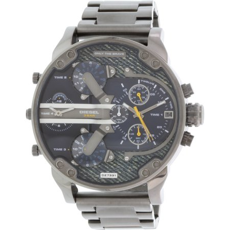 Gunmetal Hip Hop Watch (Diesel Men's Mr. Daddy DZ7331 Gunmetal Stainless-Steel Quartz Fashion Watch )