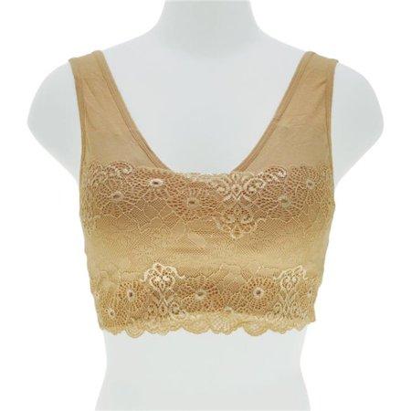 Large & Extra Large Seamless Girls Training Bra with Lace Modesty Panel - Case of 36 - image 1 de 1