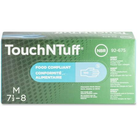 Ansell Cotton Gloves (Ansell, ANS92675M, Health Powder-free Dispenser Nitrile Gloves, 100 / Box, Blue )