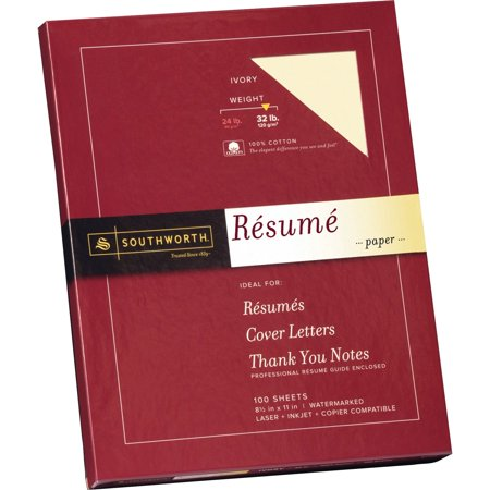 Southworth, SOURD18ICF, 100% Cotton Resume Paper, 1 / Box, Ivory - Printable Resume