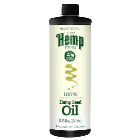 Just Hemp Foods Hemp Seed Oil, 8.5 Fl Oz (Plastic