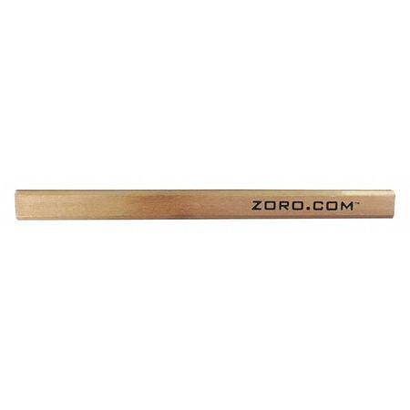 Carpenter Pencil, Natural Wood, #2 ZORO G1442128