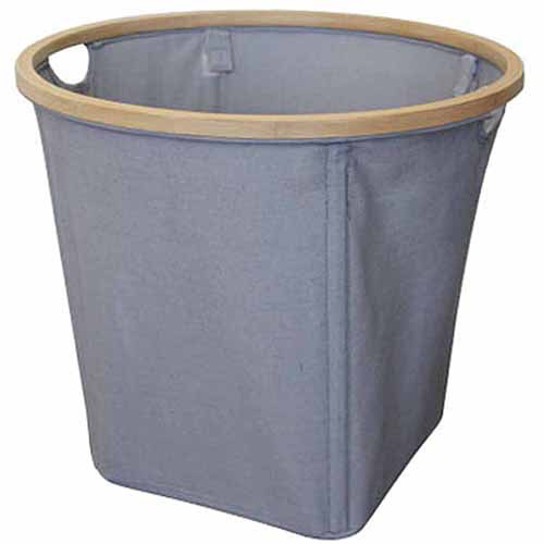 Better Homes and Gardens Fabric Round Basket, Grey