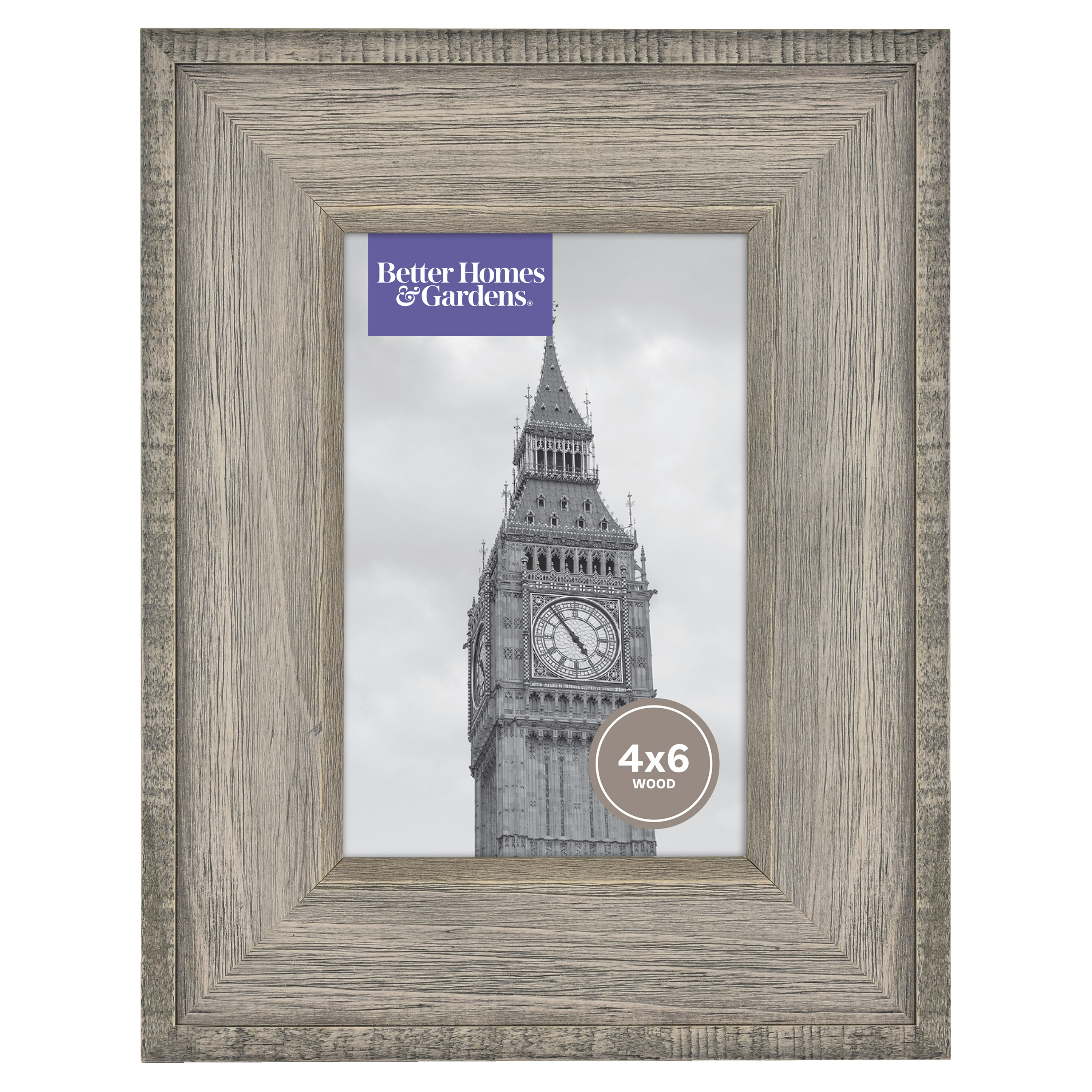 "Better Homes & Gardens 4"" x 6"" Gallery Frame, Rustic Wood"