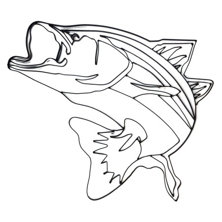 World Unique Imports Bass Fish Metal Wall Sculpture