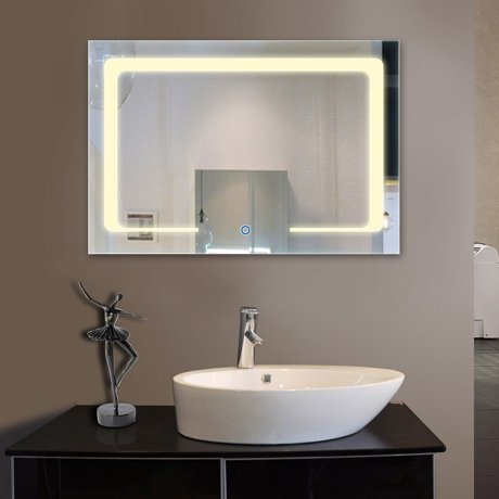 Decoraport Eco-Friendly Bathroom/Vanity Wall Mirror, Rectangle ... on recycled bathroom vanity, extra long bathroom vanity, ada compliant bathroom vanity, upcycled bathroom vanity,