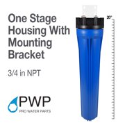Water Filter Whole House 2.5in x 20in Single Stage Filtration System 3/4in InletT W/ Brass Insert