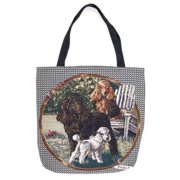 "Poodle Dogs Decorative Shopping Tote Bag 17"" x 17"""
