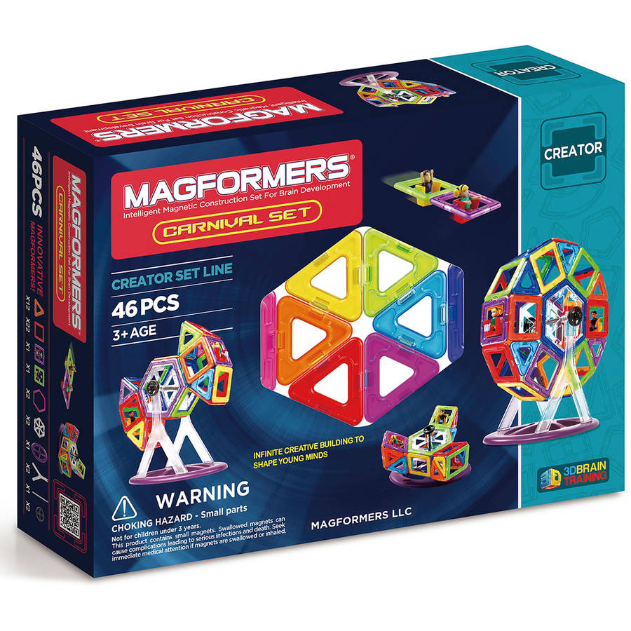 Magformers Carnival 46-Piece Magnetic Construction Set by Magformers