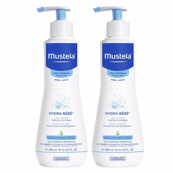 Mustela Hydra Bebe Body Lotion, Baby Lotion, 10.14 Oz (Pack of 2)