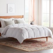 Rest Haven Hypoallergenic Down Alternative Comforter, 250 GSM Fill, White/White, Oversized King