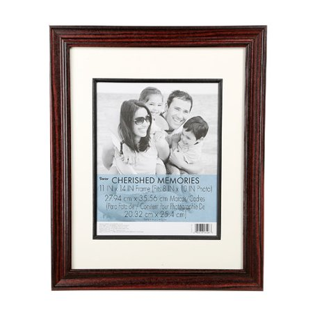 Cherry Wood Picture Frame: Double Matted, 11 x 14 inches