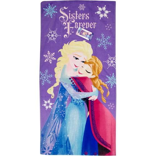 Disney Frozen Snowflakes/Sisters Forever Beach Towel